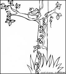 Small Picture Trees Coloring Page
