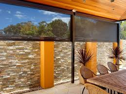 cafe patio blinds