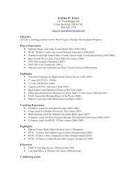 soccer resume . soccer cv example