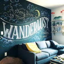chalk wall art bedroom