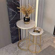 marble top sofa side table corner table