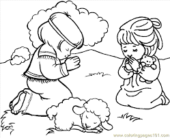 Small Picture Praying Coloring Page 01 Coloring Page Free Angel Coloring Pages