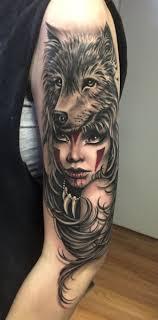 Wolf Hood Girl Shaman идеи для татуировок татуировки и