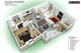 3 Bedroom House Plans 3d Inspiring 3 Bedroom Flat Interior Design Plans  Small House Design With . 3 Bedroom ...