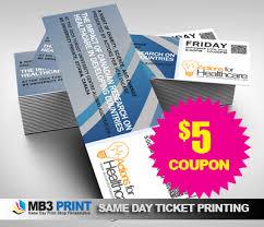 Fast Ticket Printing Sale Philadelphia Mb3 Printing Services