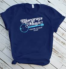 How To Make T Shirt With Your Own Design Bluegrass Music T Shirt Finger Pickin Good Banjo Design Size S 5xl