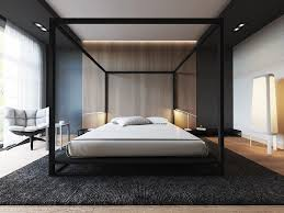 Stencil Four Poster Black Bedroom Ideas