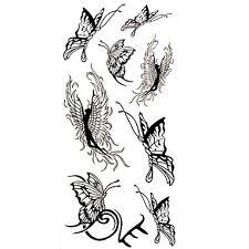 099 1ks černý Motýl Anděl Vodotěsný Tetování Ukázka Formy Dočasné Tetování Nálepka Pro Zdobení Těla 185 Cm 85 Cm