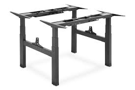 DIGITUS Electric <b>Height</b>-<b>Adjustable Desk</b> Frame, Double Workstation