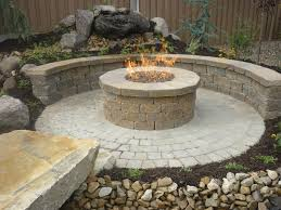 Sterling Gas Fire Pit With Square Shape Decor Also Teak Wood Frames