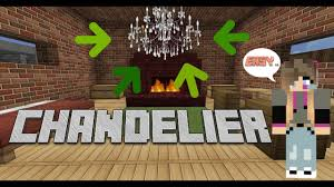 how to make a chandelier minecraft