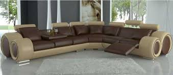 modern top grain leather sectional sofa sofas with recliners in remodel 7
