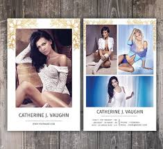 Modeling Comp Card Template Fashion Model Comp Card Photoshop And Elements Template Instant Download