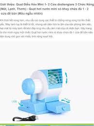 Hàng Chuẩn Loại 1) Quạt đá điều hòa mini 1-2 cửa gió - Quạt đá mini 3 trong  1 Clever Mart - Quạt hơi nước mini có khay chứa đá - Quạt