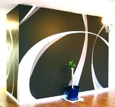 Decoration Paint Wall Designs Delectable Wall Painting Living Room Creative