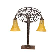 beautiful antique bronze table lamp base lighting new york