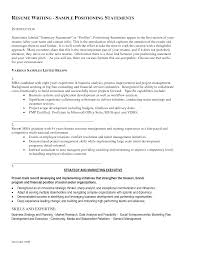 Resume Profile Statement Examples Resume Templates