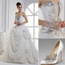 silver wedding wedding dress with silver accents 2029238