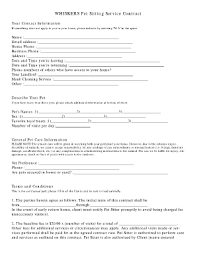 pet sitter forms pet sitting business forms fill online printable fillable blank