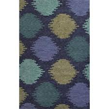 get ations handmade geometric pattern blue green polyester area rug
