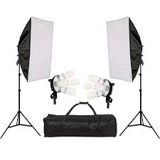 4in1 bulb soft box photography lighting kit continuous lighting system photo studio equipment photo model portraits
