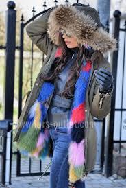 american parka with fur new 2017 military multicolor parka coat hood fox fur clas sable