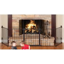 the auto close hearthgate provides maximum safety for use around fireplaces of any shape or size as a hardware mounted gate it s ideal for use in any