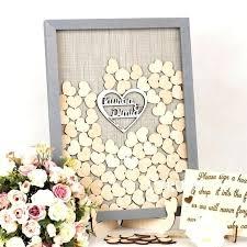 diy heart shadow box guest book wedding drop sign in alternative