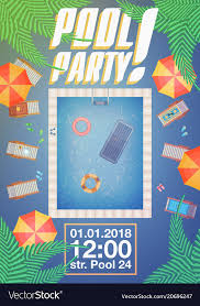 Summer Pool Party Invitation Layout Royalty Free Vector