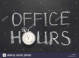chalkboard office. Office Hours Phrase Handwritten On Chalkboard With Vintage Precise Stopwatch Used Instead Of O