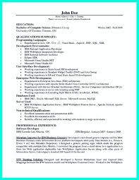 Programmer Resume Sample Sample Programmer Resume Resume For Study 24