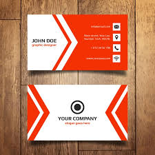visting card format red business card template vector free download