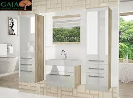 Badezimmermöbel Set Superior Woody 5 Hochglanz In 2 Farbvarianten