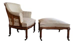 French Ottoman antique french napoleon armchair and ottoman chairish 6628 by guidejewelry.us