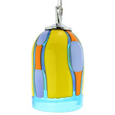 murano glass pendant light blue lagoon