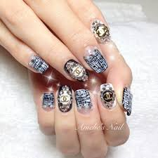 Chanel tweed monochrome nails | nail art and easy manicure ...