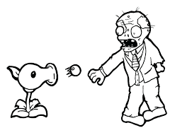 Zombie Coloring Pages Printable Plants Vs Zombies Color Pages Zombie