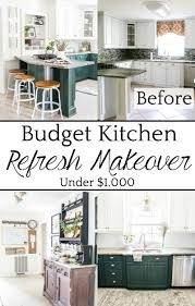 top 10 home and diy blog posts of 2018 budget kitchen refresh makeover under 1 000