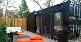 shipping containers office. A Couple Solved Their Home-office Quandary By Plunking Shipping Container In Backyard Containers Office