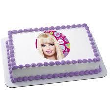 Barbie Edible Frosting Image Cake Topper 14 Sheet Walmartcom
