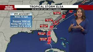 Tropical Storm Elsa nears hurricane ...