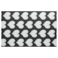 pattern idea cute pastel blue hearts pattern black fabric craft diy cyo cool