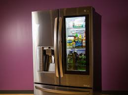 lg refrigerator instaview. lg\u0027s smart instaview puts alexa in a fridge - cnet lg refrigerator instaview n