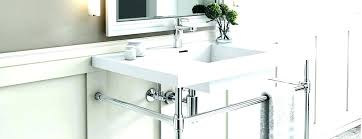 sink with metal legs standard console