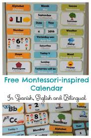 Spanish Date Chart Free Hands On Bilingual Calendar For Children English