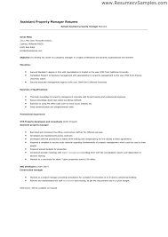 Sample Assistant Property Manager Resume Topshoppingnetwork Com