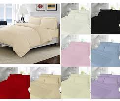 plain brushed cotton winter flannelette duvet cover pillow bedding
