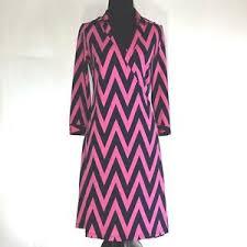 Details About Julie Brown Career Wrap Dress V Neck 3 4 Stretch Size 0 Xs