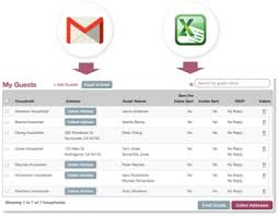 Excel Guest List Wedding Guest List Manager Organize Invitations Rsvps And
