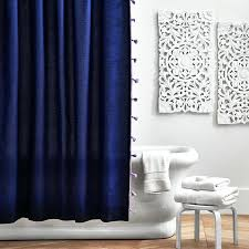 dark blue shower curtain navy blue and white shower curtain target